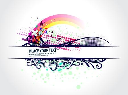 abstract grunge banner design element - vector  Stock Vector - 9992299