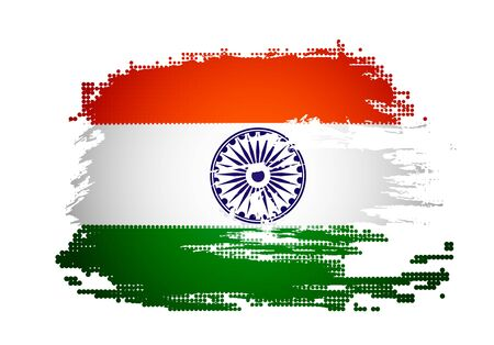 India grunge flag with Event Original, vector illustration  Vector