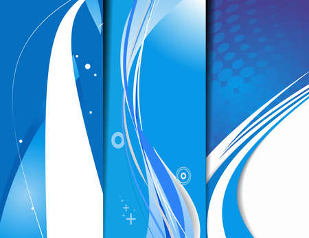 Set of abstract wave banner with place for your text. vector illustration  Vector