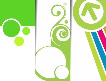 Set of abstract swirl banner with place for your text. vector illustration  Stock Vector - 9992244
