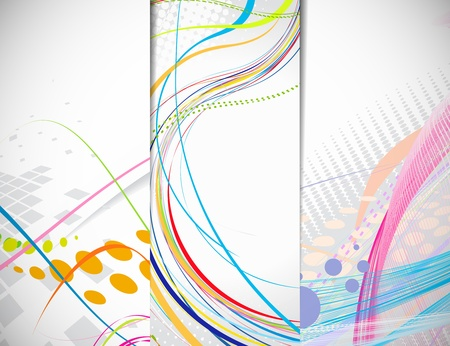 Set of abstract line banner with place for your text. vector illustration  Vector
