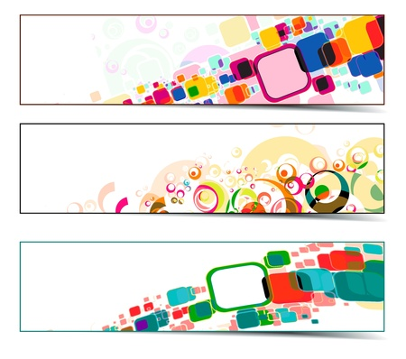 Set of abstract web banner with place for your text. vector illustration  Stock Vector - 9992320