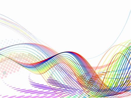 virtual space: Onda astratta sfondo composizione - illustrazione vettoriale