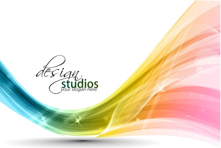 Abstract colorful wave background. Vector. illustration Stock Vector - 10028406