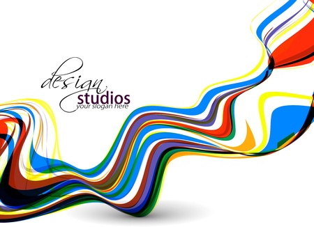 corporate image: abstract colorful wave background, Vector illustration.