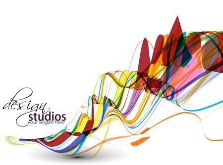 web: abstract colorful wave background, Vector illustration.