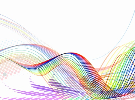 dibujo tecnico: Ola abstracto fondo composici�n - ilustraci�n vectorial