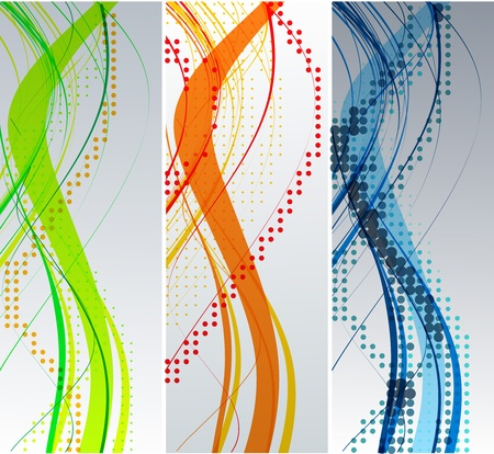 Abstract wave background composition - vector illustration  Stock Vector - 10028566