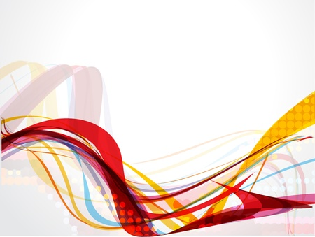 technology background: Abstract wave background composition - vector illustration