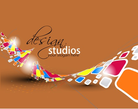 digital paint: Abstract colorful banner background for your business artwork