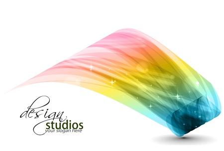 Abstrakte bunte Welle Hintergrund. Vector. Abbildung Standard-Bild - 10028499