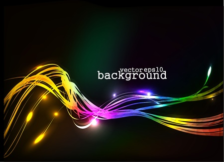 abstract colorful wave background, Eps10 Vector illustration. Stock Vector - 10028514