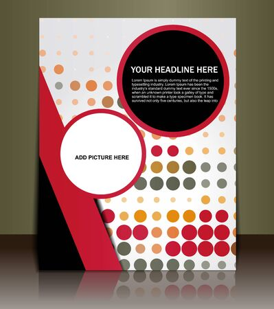 Presentation of Poster/flyer design content background. editable vector illustration Stock Vector - 10028500