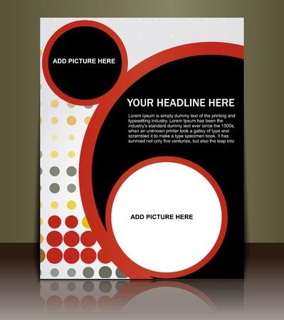twirls: Presentation of Posterflyer design content background. editable vector illustration  Illustration