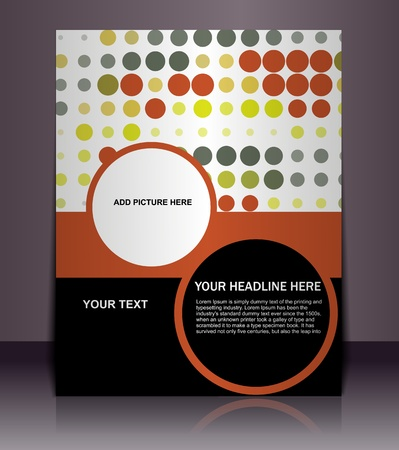 Presentation of Posterflyer design content background. editable vector illustration  Vector