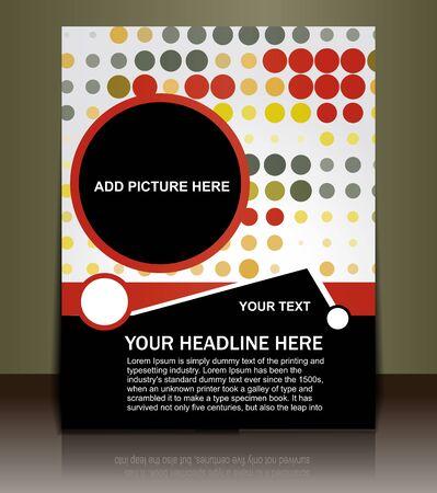 Presentation of Posterflyer design content background. editable vector illustration  Illustration