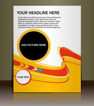Presentation of Poster/flyer design content background. editable vector illustration Stock Vector - 10054895