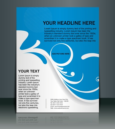 swirl background: Presentation of Posterflyer design content background. editable vector illustration  Illustration