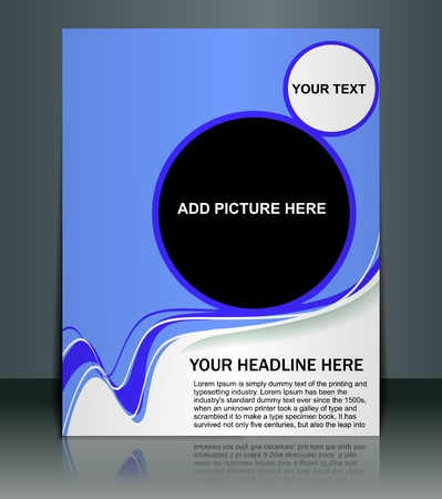 Presentation of Posterflyer design content background. editable vector illustration  Vector