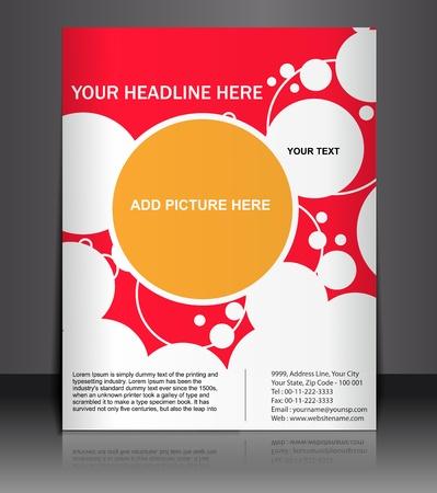 Presentation of Poster/flyer design content background. editable vector illustration Stock Vector - 10054884