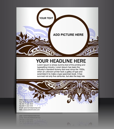 Presentation of Poster/flyer design content background. editable vector illustration Stock Vector - 10055002