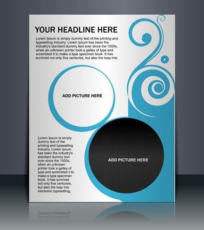 Presentation of Poster/flyer design content background. editable vector illustration  Stock Vector - 10054921