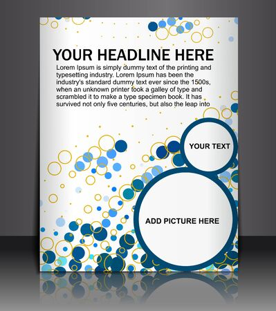 Presentation of Posterflyer design content background. editable vector illustration  Illustration