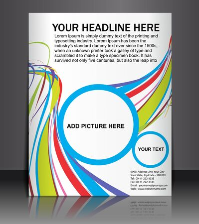 Presentation of Poster/flyer design content background. editable vector illustration Vector Illustration