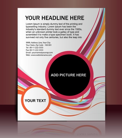 Vector editable Presentation of Flyer/Poster design content background. Stock Vector - 10054930