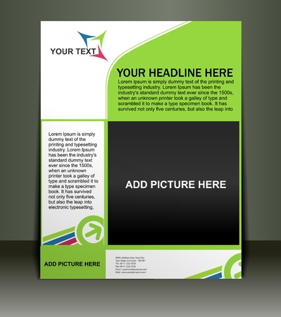 Presentation of Poster/flyer design content background. editable vector illustration Stock Vector - 10054924