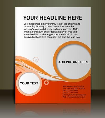 sjabloon: Vector bewerkbare presentatie van FlyerPoster ontwerp inhoud achtergrond. Stock Illustratie