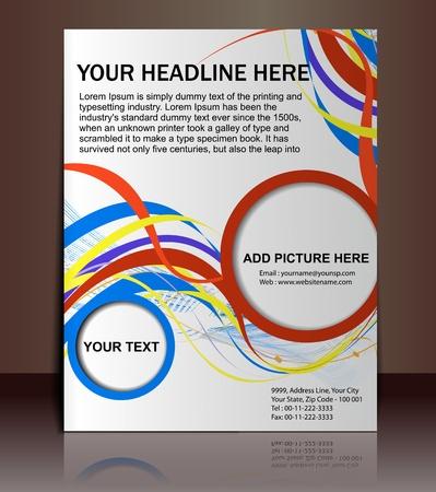 Vector editable Presentation of FlyerPoster design content background. Vector