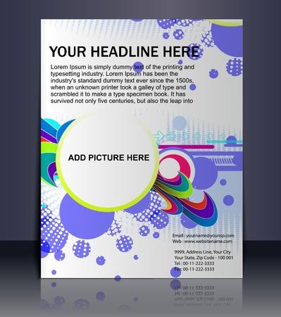Présentation vectoriel éditable de Flyer / fond d'affiche le contenu du design. Vecteurs