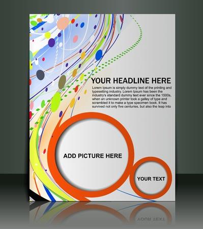 square dancing: Vector editable Presentation of FlyerPoster design content background.