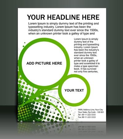 Vektor bearbeitbare Präsentation Flyer/Poster Design-Inhalte Hintergrund.