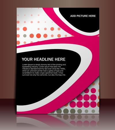 flyer template: Vector editable Presentation of FlyerPoster design content background.