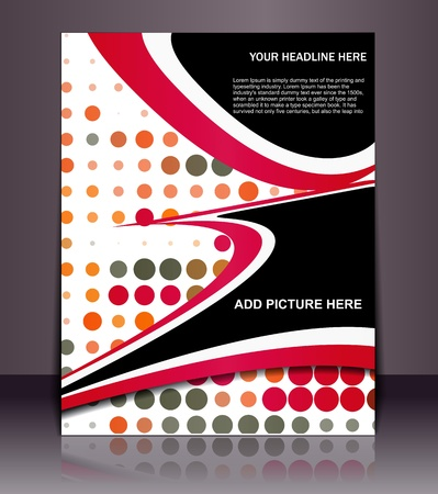 Vector editable Presentation of Flyer/Poster design content background. Stock Vector - 10054967
