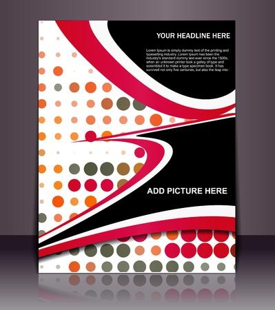 Vectoriales editables Presentación del Folleto / Diseño de cartel de fondo del contenido.