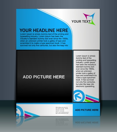 flyer musique: Pr�sentation vectoriel �ditable de Flyer  fond contenu de l'affiche de conception. Illustration