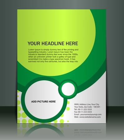 gabarit: Pr�sentation vectoriel �ditable de Flyer  fond d'affiche le contenu du design.