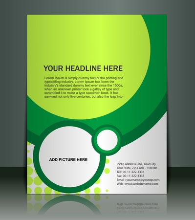 graphic: Vector editable Presentation of FlyerPoster design content background.