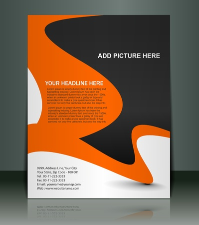 advertise: Vector editable Presentation of FlyerPoster design content background.