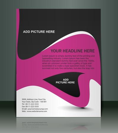 leaflet design: Vector editable Presentation of FlyerPoster design content background.