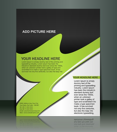 flyer layout: Vector editable Presentation of FlyerPoster design content background.