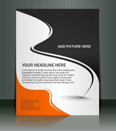 fedő: Vector szerkeszthető bemutatása Flyer  poszter tervtartalom háttér. Illusztráció