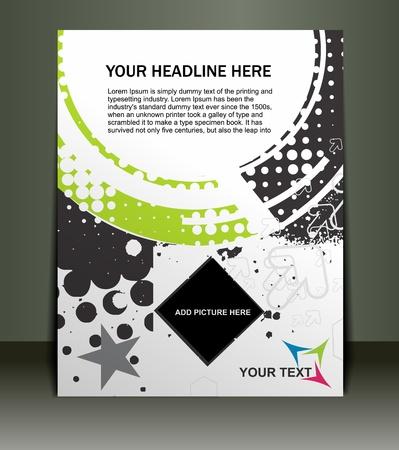 square dancing: Presentation of Posterflyer design content background. editable vector illustration  Illustration