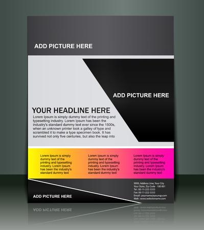 folleto: Vectorial editable presentaci�n del Flyercartel dise�o contenido antecedentes.