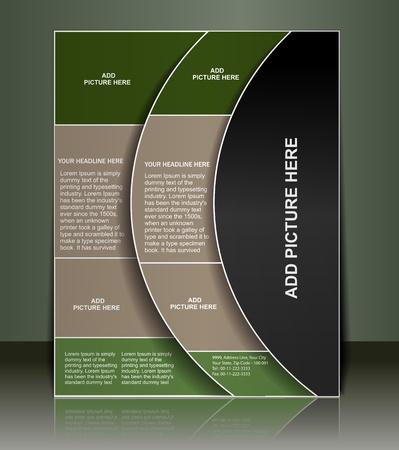 bijsluiter: Vector bewerkbare presentatie van FlyerPoster ontwerp inhoud achtergrond. Stock Illustratie