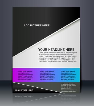 チラシ: ベクトル編集可能なフライヤーポスター プレゼンテーション デザイン コンテンツの背景。  イラスト・ベクター素材