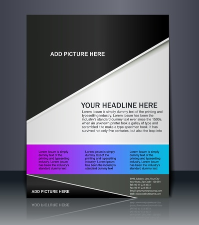 publication: Vector editable Presentation of FlyerPoster design content background.